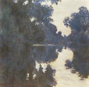Claude Monet Seine am Morgen 2 Wandbild