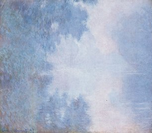 Claude Monet Seine am Morgen Wandbild