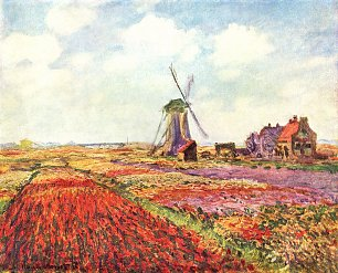 Claude Monet Tulpen von Holland Wandbild
