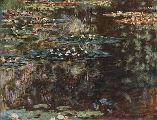 Claude Monet Wassergarten in Giverny Wandbild