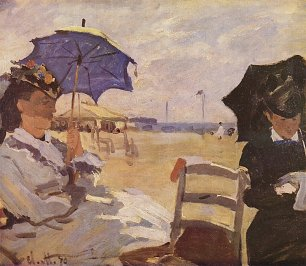 Claude Monet am Strand von Trouville