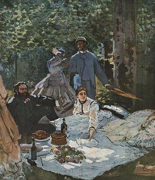 Claude Monet das Fruehstueck im Freien Mittelteil Wandbilder