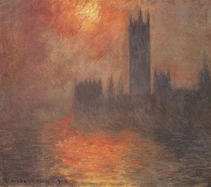 Claude Monet die Houses of Parliament Sonnenuntergang Wandbild