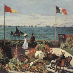 Claude-Monet-die-Terrasse-am-Meeresufer-Sainte-Adresse