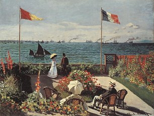 Claude Monet die Terrasse am Meeresufer Sainte Adresse