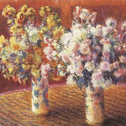 Claude-Monet-zwei-Vasen-mit-Chrysanthemen