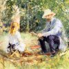 Berthe-Morisot-Eugene-manet-and-his-daughter-with-the-garden