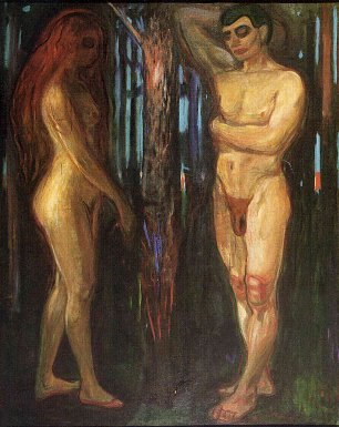 Edvard Munch Adam and Eve Wandbild