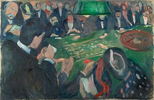 Edvard Munch At the Roulette Table in Monte Carlo Wandbild