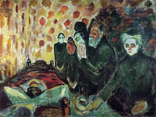 Edvard Munch By the Deathbed Wandbild