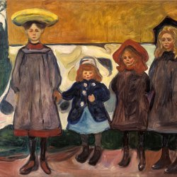 Edvard-Munch-Four-Girls-in-Asgardstrand