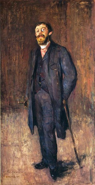 Edvard Munch Portrait of the painter jensen hjell Wandbild
