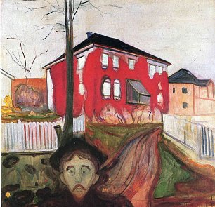 Edvard Munch Red Virginia Creeper  Wandbild