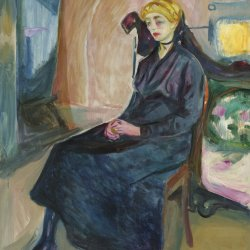 Edvard-Munch-Seated-young-woman