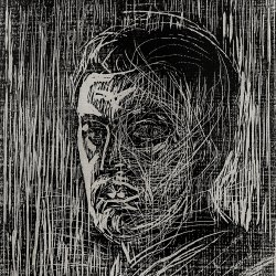 Edvard-Munch-Self-portrait-facing-left