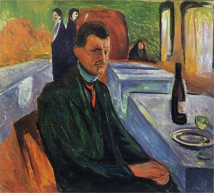 Edvard Munch Self portrait in a bottle of wine Wandbild