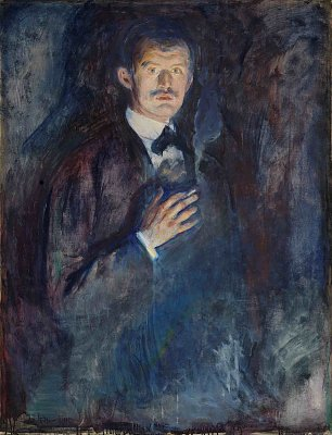 Edvard Munch Self portrait with cigarette Wandbild