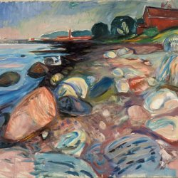Edvard-Munch-Shore-with-Red-House