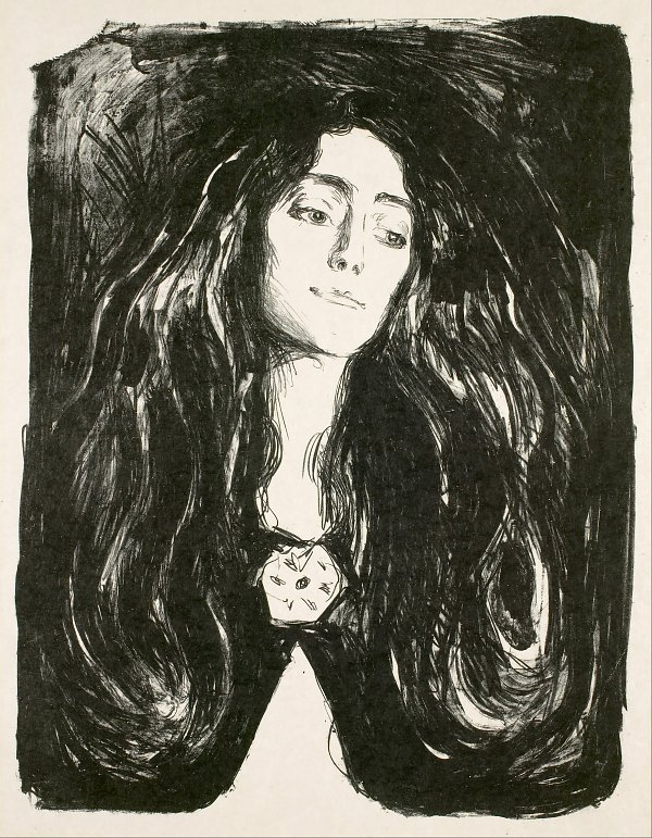 Edvard Munch The Brooch Eva Mudocc