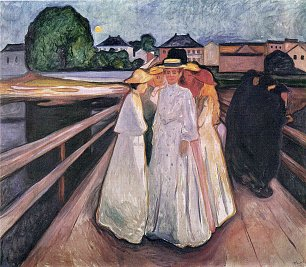 Edvard Munch The Ladies on the Bridge  Wandbild