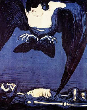 Edvard Munch The Vampire Wandbild