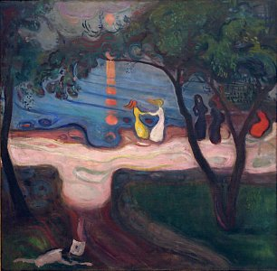 Edvard Munch The dance on the shore Wandbild