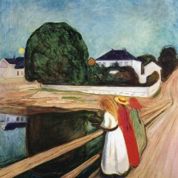 Edvard-Munch-The-girls-on-the-bridge