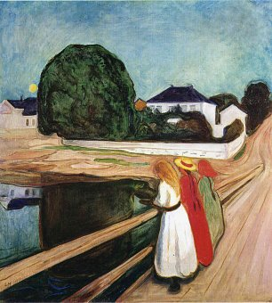 Edvard Munch The girls on the bridge Wandbild