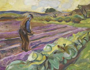 Edvard Munch The sower Wandbild