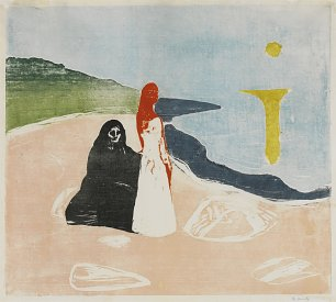 Edvard Munch Two woman on the shore Wandbild