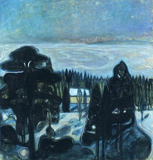 Edvard Munch White night Wandbild