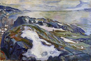 Edvard Munch Winter Landscape Wandbild