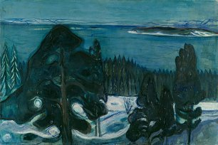 Edvard Munch Winternacht