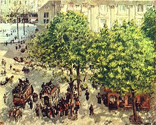 Camille Pissarro Place du Theatre Francais in Paris