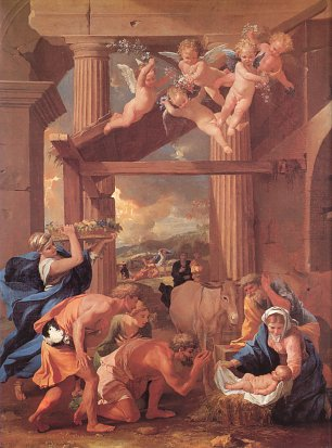 Nicolas Poussin adoration of the shepherds Wandbild