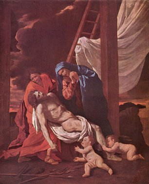 Nicolas Poussin descend from the cross Wandbild