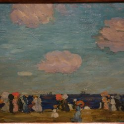 Maurice-Prendergast-Seascape-with-Figures