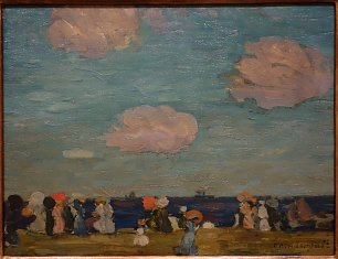 Maurice Prendergast Seascape with Figures