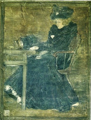 Maurice Prendergast Seated Woman in Blue