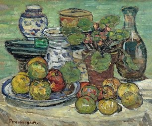 Maurice Prendergast Still life with apples