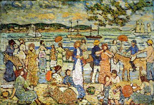 Maurice Prendergast along the shore