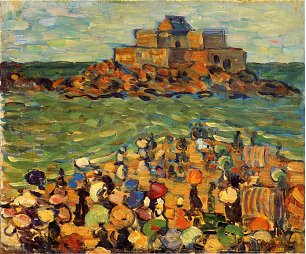 Maurice Prendergast chateaubriand s tomb st malo Wandbild