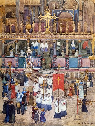 Maurice Prendergast easter procession st mark s