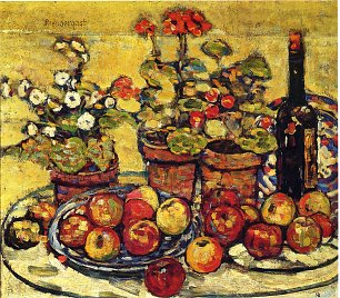 Maurice Prendergast fruit and flowers