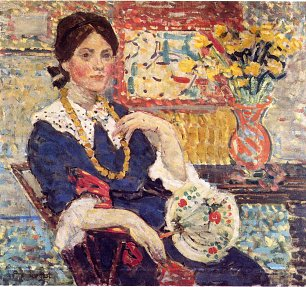 Maurice Prendergast le rouge portrait of miss edith king