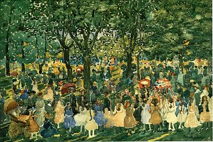 Maurice Prendergast may day central park