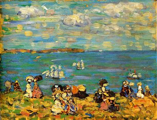 Maurice Prendergast st malo also known as sketch st malo Wandbild