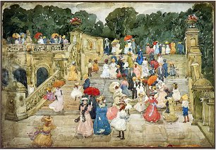 Maurice Prendergast the mall central park