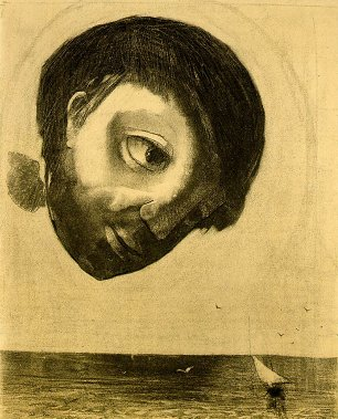 Odilon Redon Guardian spirit of the waters Wandbild