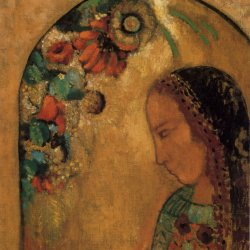Odilon-Redon-Lady-of-the-Flowers